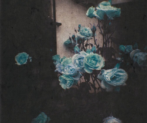 blue, flower, and teen image