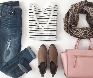 boots, purse, and stripes image