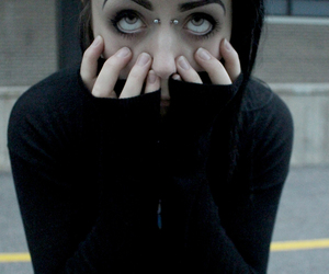 black, piercing, and eyes image