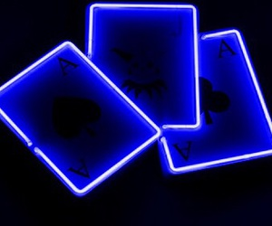 blue and neon lights image