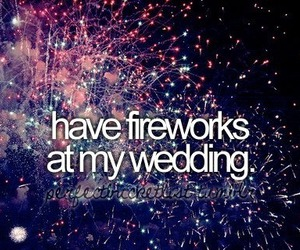 fireworks, wedding, and Dream image