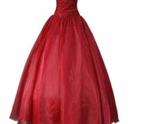 dress, overlay, and red image