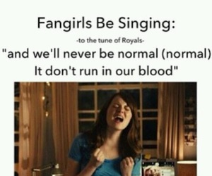crazy, fangirls, and not normal image