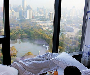 apartment, bed, and Central Park image