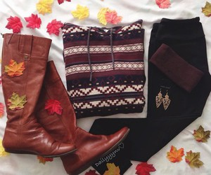 boots, fall, and fashion image
