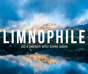 lake, words, and limnophile image