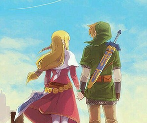 link, zelda, and skyward sword image