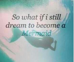 mermaid, Dream, and ocean image