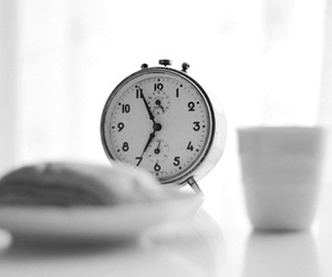 breakfast, clock, and time image
