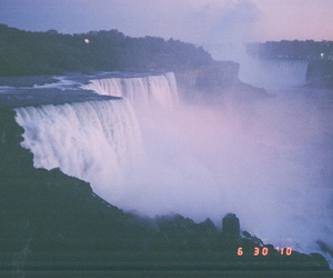 waterfall, photography, and vintage image
