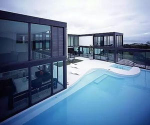 house, pool, and architecture image