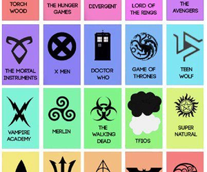 harry potter, lord of the rings, and symbols image