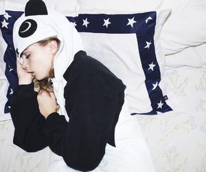 cara delevingne, model, and panda image