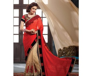 clothing, saree, and fashion image
