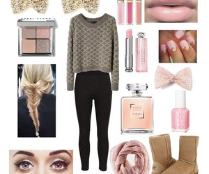 leggings, pink, and sweater image