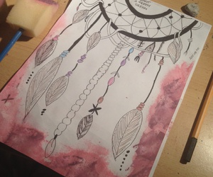 draw. dream catcher. and beauty. drawing image