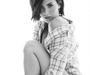 black and white, cosmopolitan, and ddlovato image