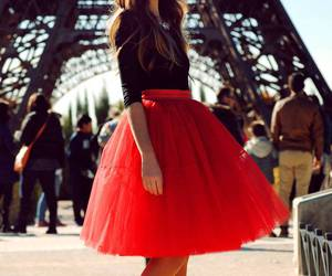 crimson, rouge, and skirt image