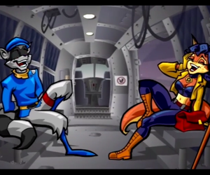 cop, sly, and sly cooper image