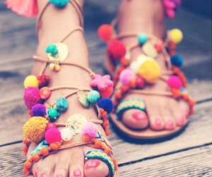 colorful, flip flops, and indian image