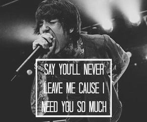 bmth, bring me the horizon, and don't go image