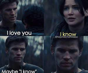 katniss, gale, and hunger games image
