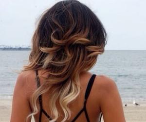 beach, girl, and pelo image
