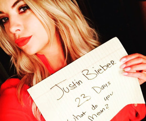 ashley benson, justin bieber, and what do you mean image