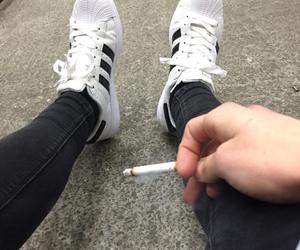 adidas, grunge, and smoke image