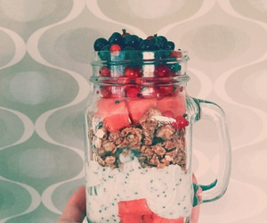 chia, fruit, and healthy image