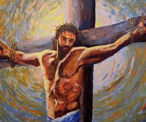 art, love, and crucifix image