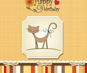 card, backgrounds, and cat image