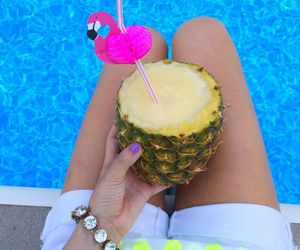 beach, cool, and drink image