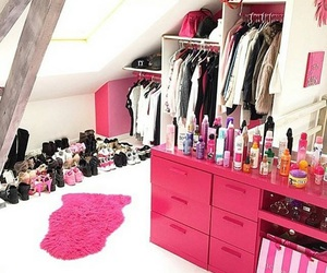 bedroom, dream room, and pink image