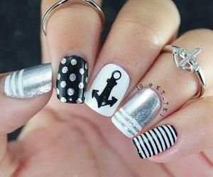 nails, nail art, and girly image