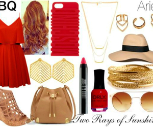 aries, gold, and Polyvore image