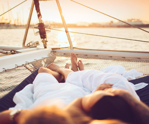 boat, summer, and love image