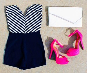 outfit, heels, and style image