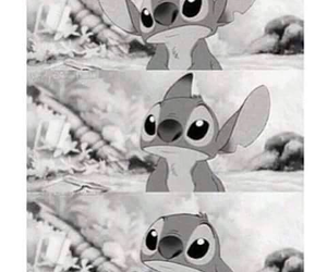 black&white, lovely, and stitch image