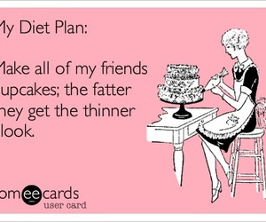 diet, funny, and cupcake image