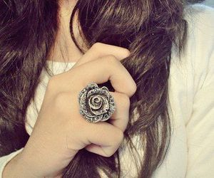 ring, hair, and rose image