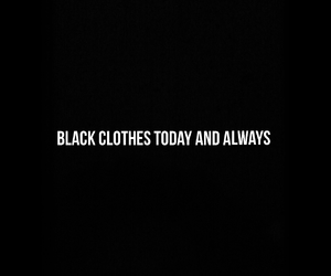 black, black clothes, and clothes image