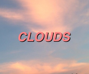 clouds, pink, and one direction image