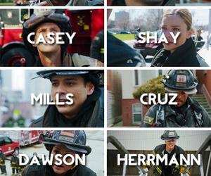 chicago fire, dawson, and shay image