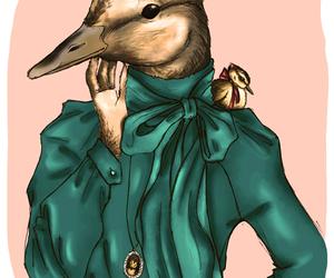 duck, illustration, and elegant image