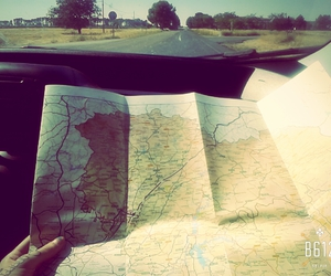 car, map, and road image