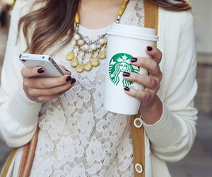 starbucks, girl, and fashion image