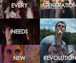 harry potter, revolution, and the hunger games image