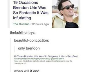 brendon urie, funny, and jokes image