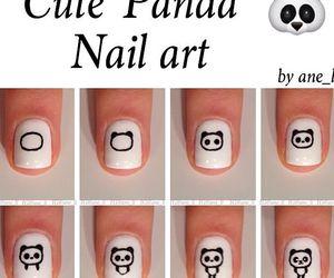 panda, art, and nail image